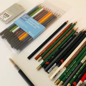 Collection of artists pencils
